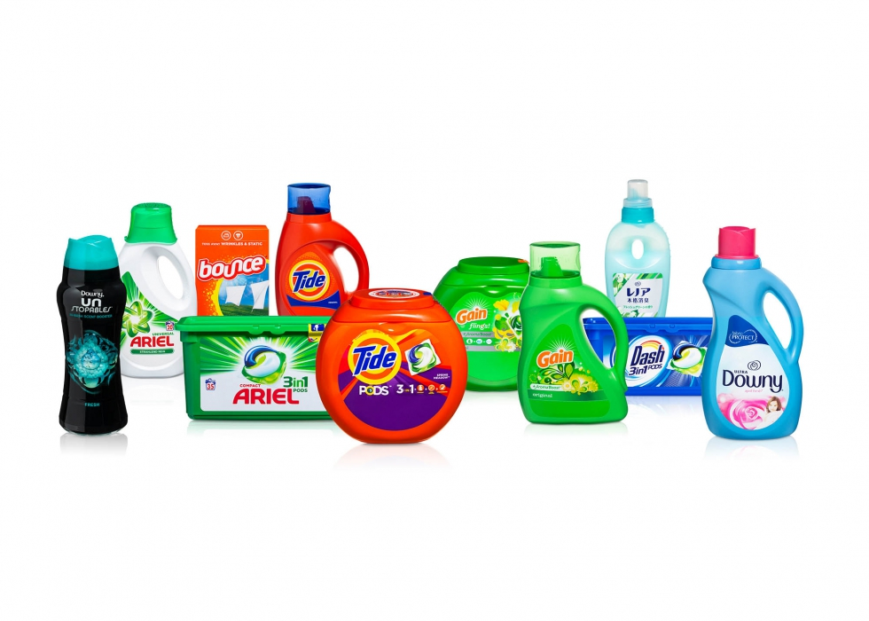 Product family of P&G home cleaning product - P&G product photography