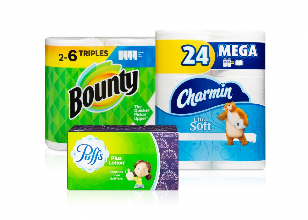 Product family of P&G paper tissue and paper towels - P&G product photography