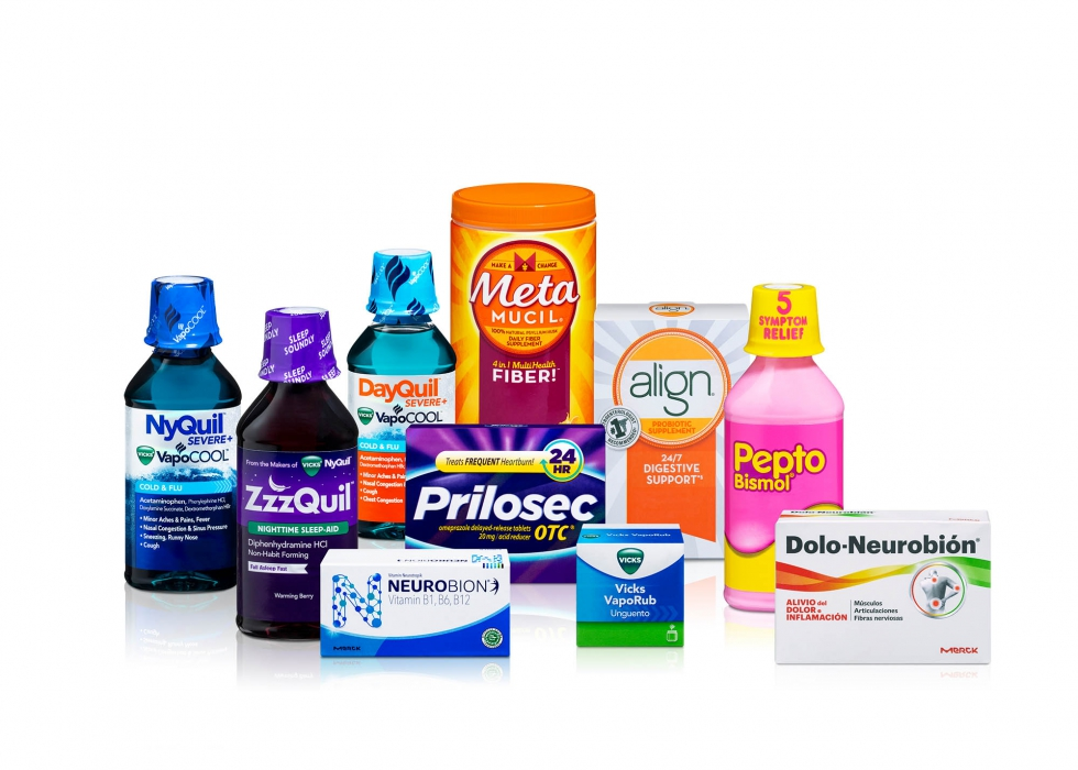 Product family of P&G medical care products - P&G product photography