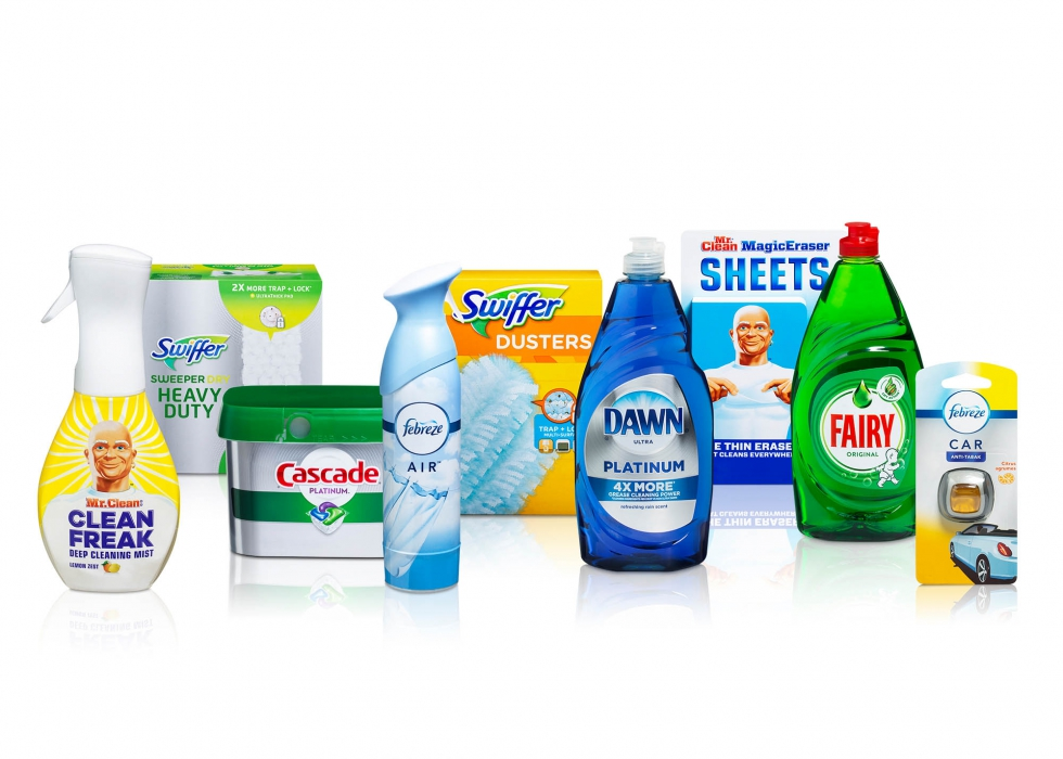 Product family of P&G dish cleaning product - P&G product photography