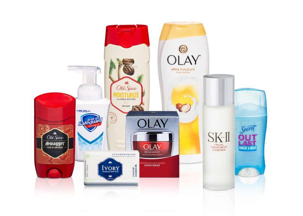 Product family of P&G personal care products - P&G product photography