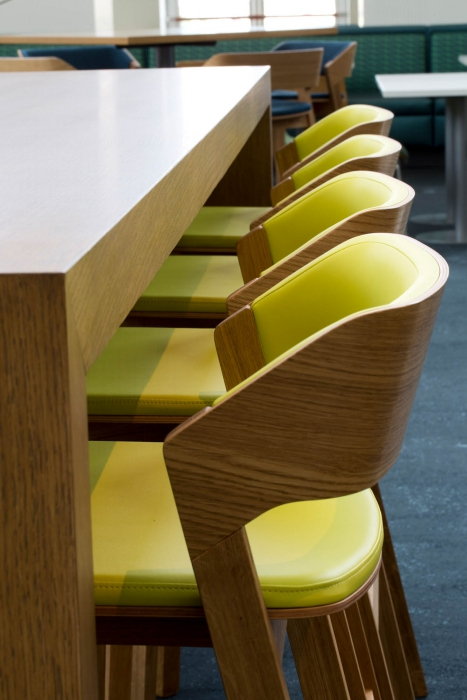 detail of chairs at shared dest at p&g - architectural photography