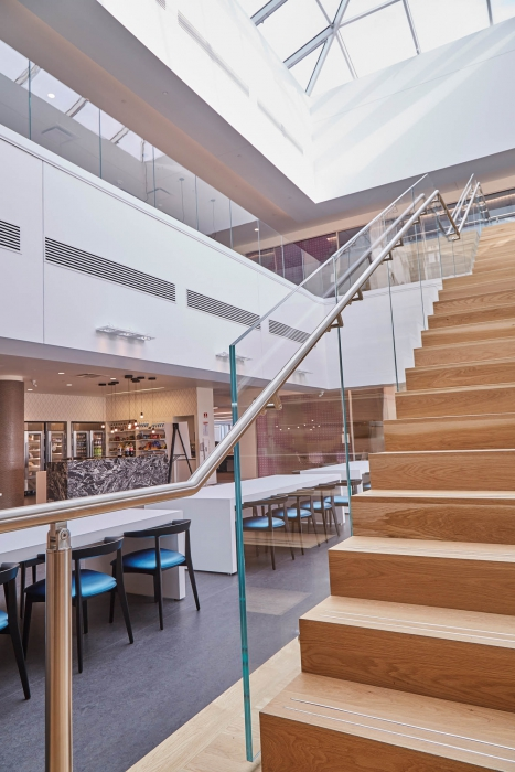 stairway and common space at p&g - architectural photography