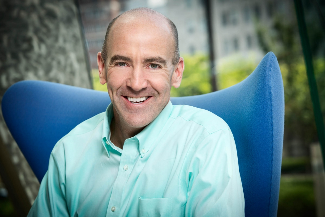 portrait of business casual man in chair - portrait photography
