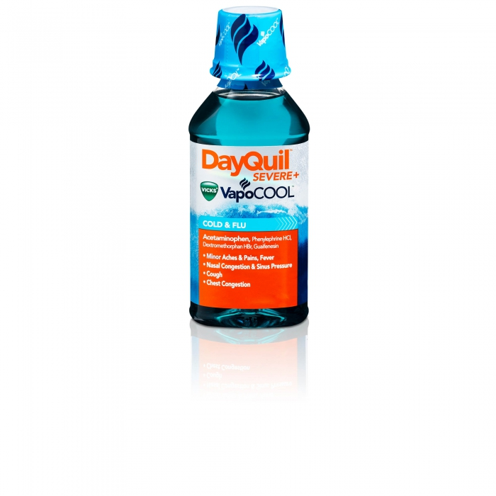 ecommerce product photo dayquil vapocool bottle - P&G product photography