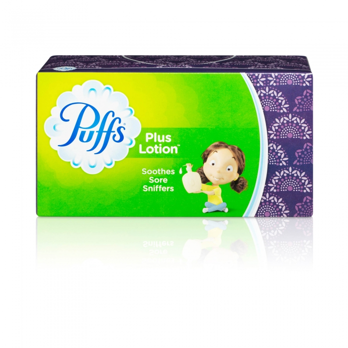 ecommerce product photo of Puffs facial tissue - P&G product photography
