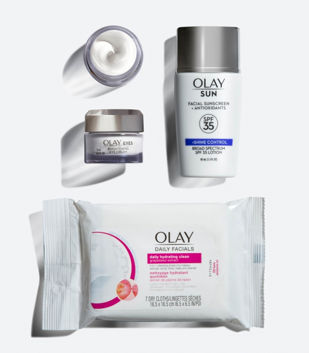 Product photo of olay package - P&G Product Photography