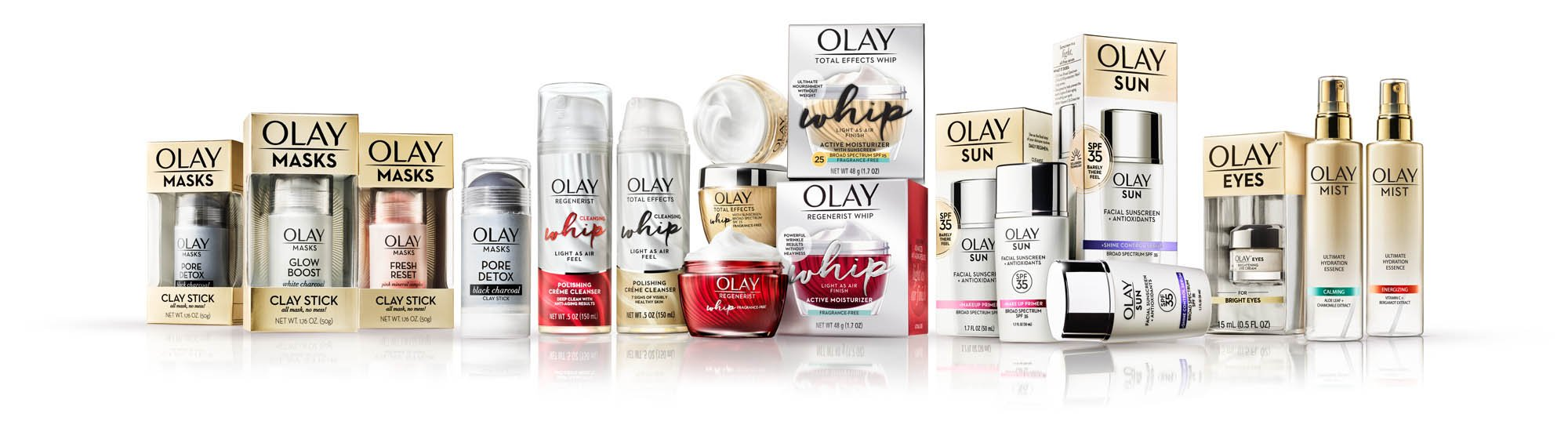 Olay product family - high end photography