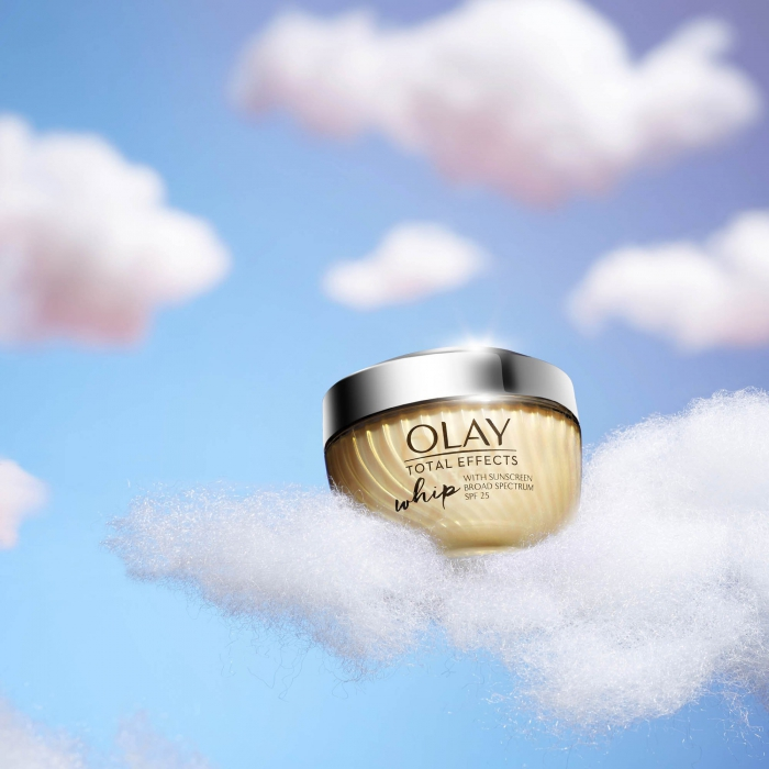 Olay total effects whip on cloud - social media photography